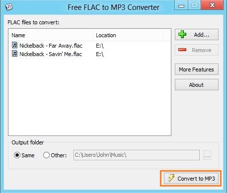 kostenlos flac zu mp3 konvertieren
