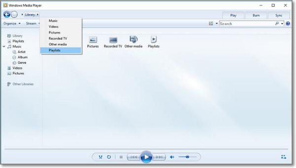 launch windows media player