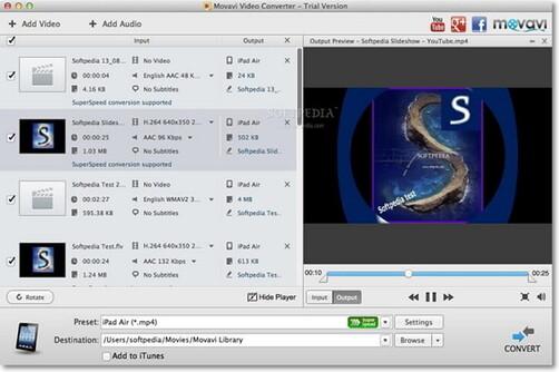 Movavi Video Converter كمحول MP3 على نظام Mac
