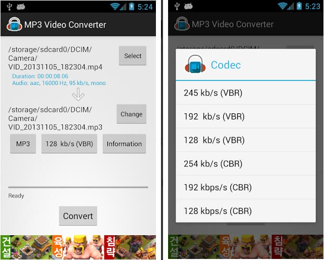 convertitore in mp3 per android