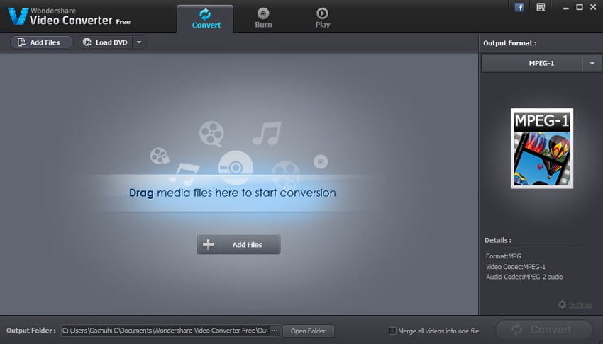 Add files to free MPEG to MP3 converter