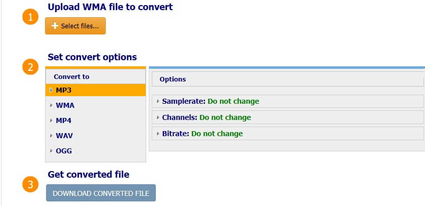 online converter wma to mp3