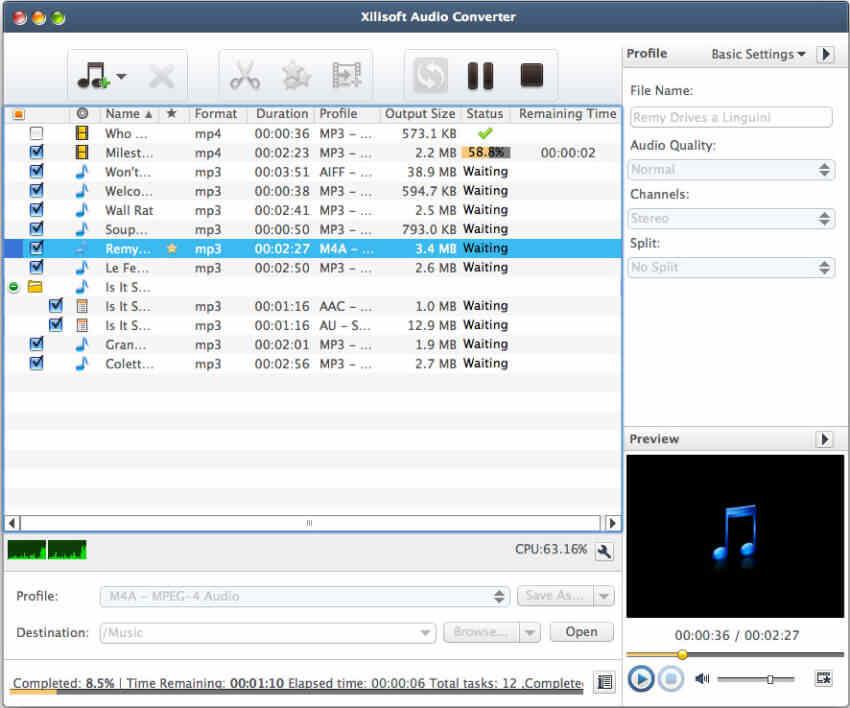 برنامج Xilisoft Audio Converter لتحويل MP3