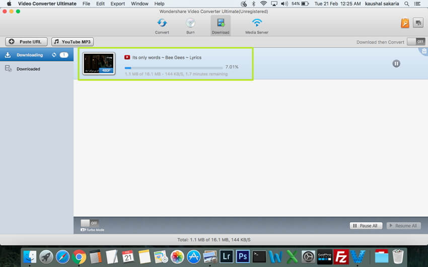 Convertir le MP4 local en MP3  - Cliquez sur Télécharger