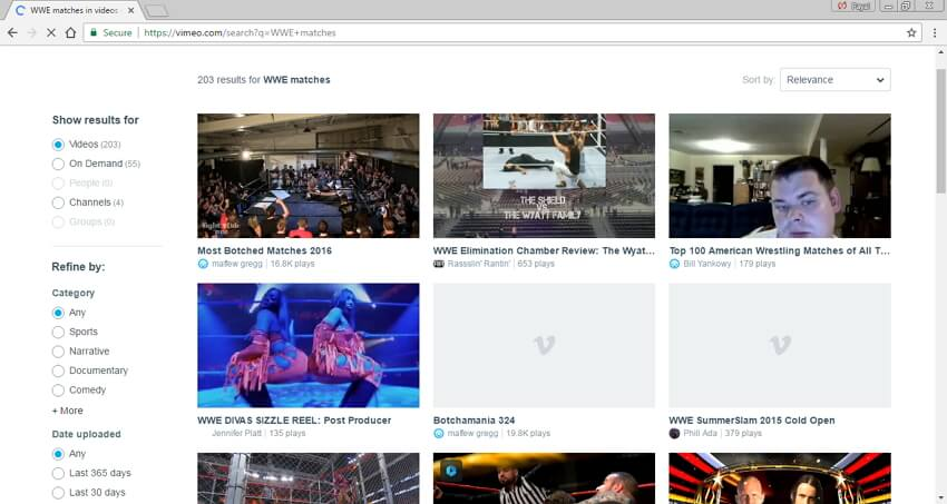 Scarica i video delle partite  WWE in MP4 - Vimeo