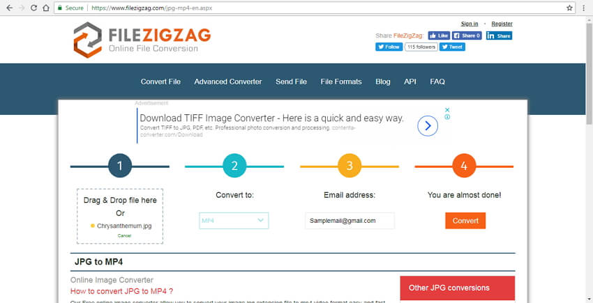 convert jpg to mp4 with jpg to mp4 converter online