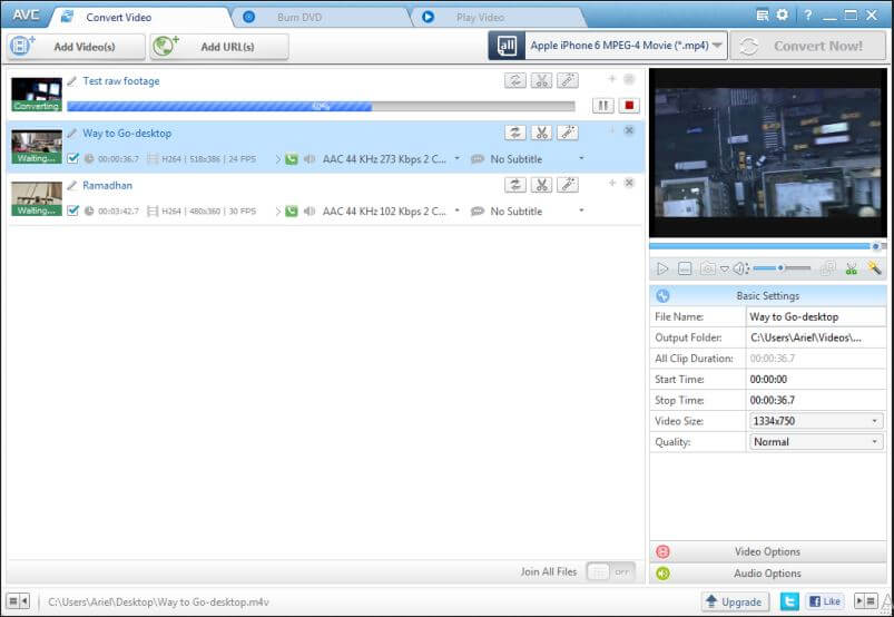 convert MOV to MP4 free