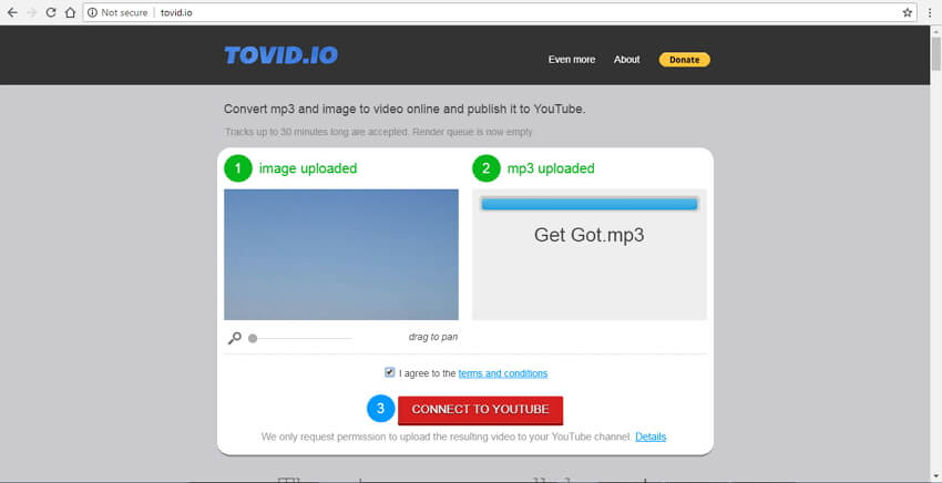 convert mp3 to mp4 with image Tovid