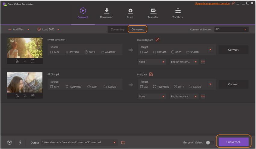 converter MP4 para AVI gratuitamente
