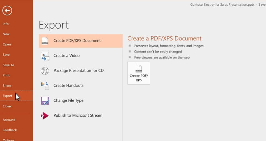 powerpoint a MP4
