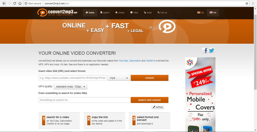 convertisseur url en mp4 en ligne Convert2MP3