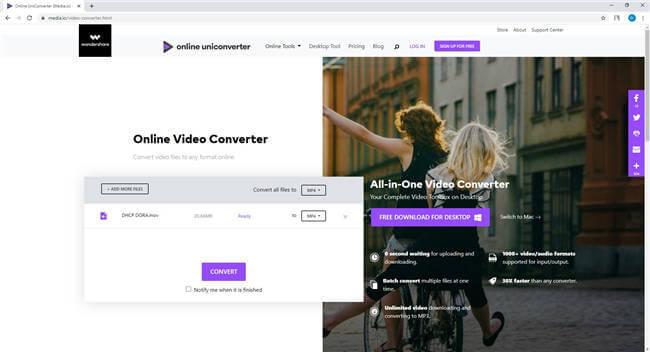 convert VLC to MP4 online