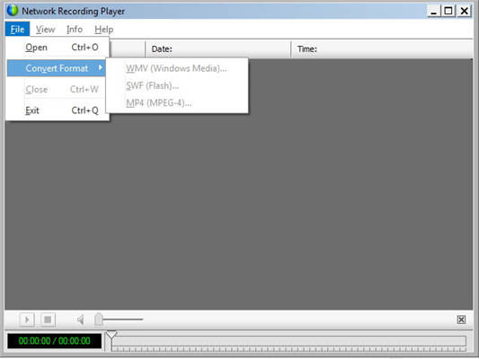 convert WRF to MP4 using WebEx Player