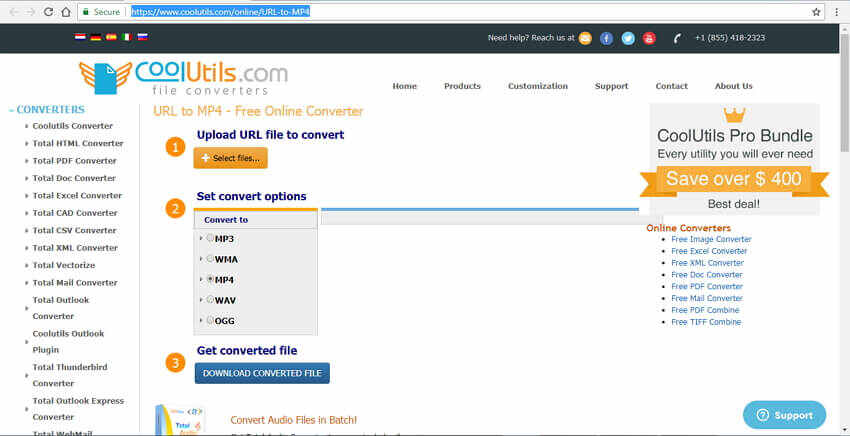 url video converter to mp4 CoolUtilis