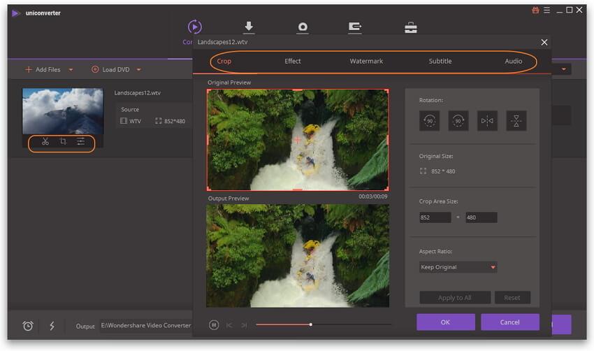 convertir WTV a MP4 - editar video