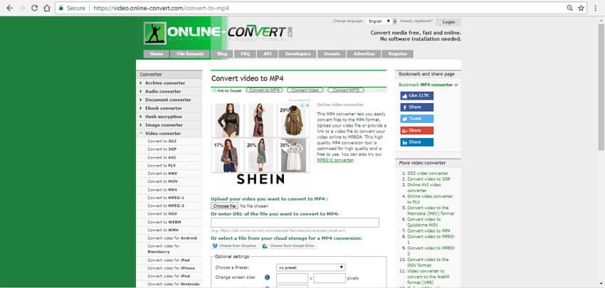 mp4 converter online free Online Convert