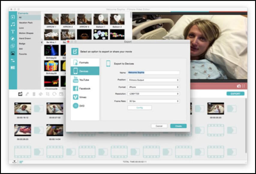 GIF zu MP4 Filmora Video Editor