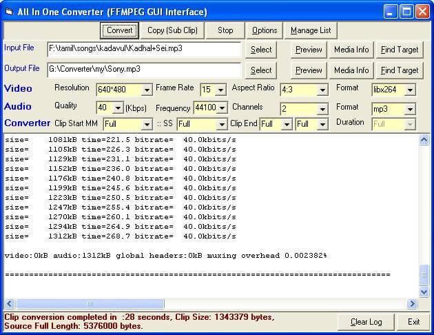 GIF in MP4 con FFMPEG