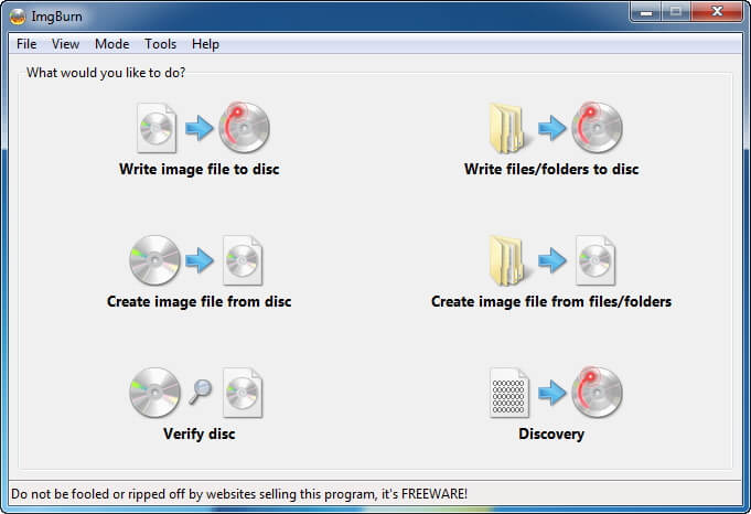 ImgBurn best free dvd to mp4 converter