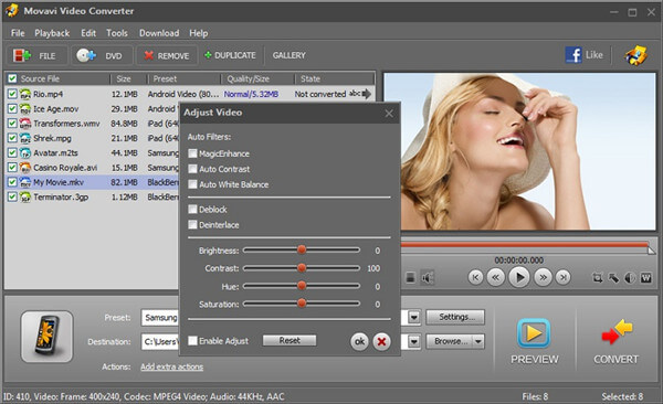 Grabador de MP4 a DVD - Movavi Video Converter para Mac