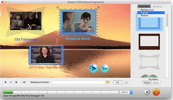 MP4 to DVD burner -Voilabits DVD Creator for Mac