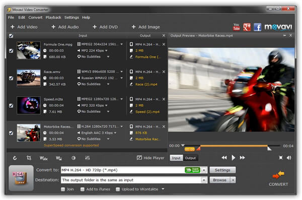 MP4 to DVD burner - Movavi Video Converter