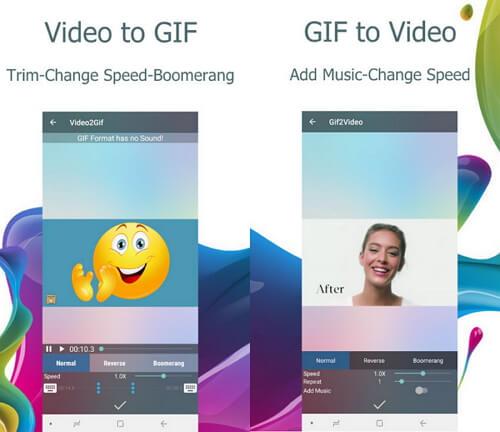 Converteer MP4 naar GIF Android