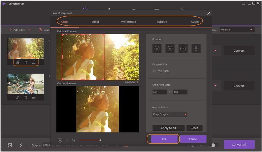 在转换到MPEG之前编辑MP4视频
