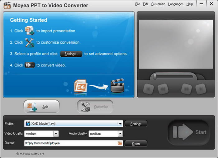 how to convert powerpoint to mp4 free