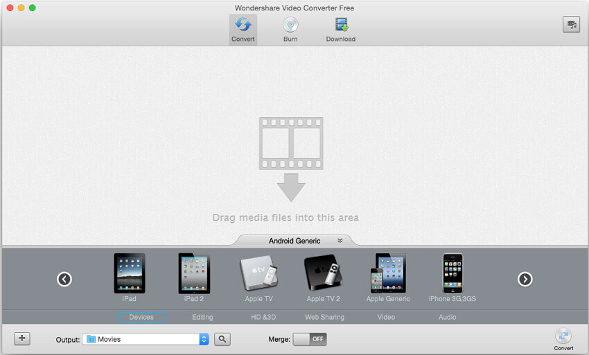 Online YouTube to MP4 on Mac - Wondershare Video Converter Free for Mac