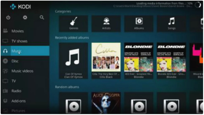 alternative gratuite ?Windows Media Player - Kodi