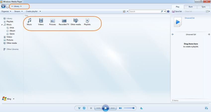 utiliser Windows Media Player