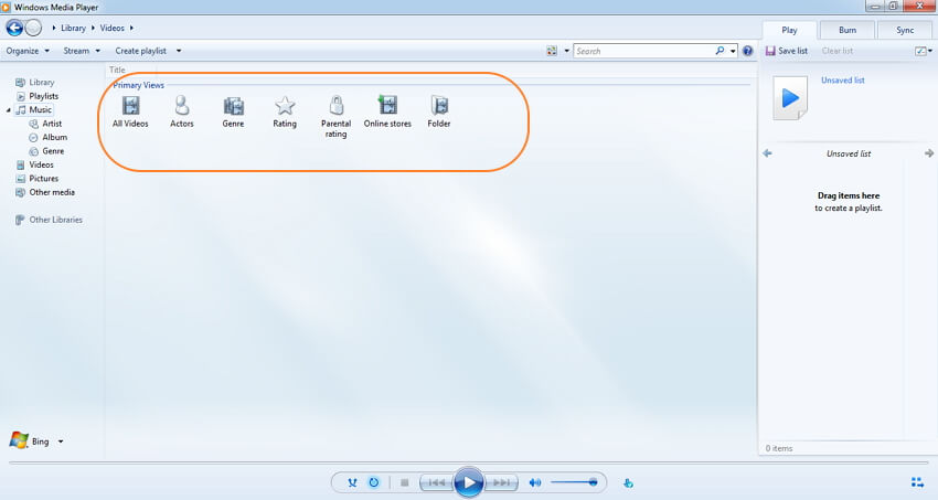 how to use Windows Media Player