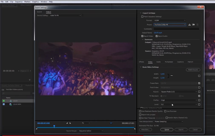 select 4k videos preset