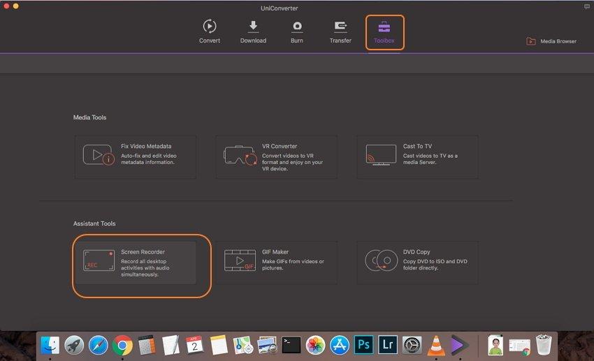 Öffnen Sie die Mac Bildschirmaufnahme