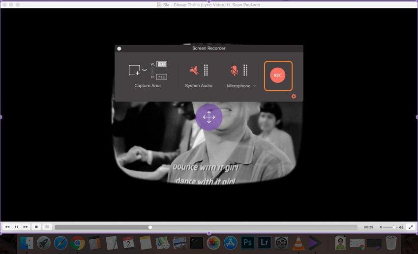 Starten der Videoaufnahme auf Mac