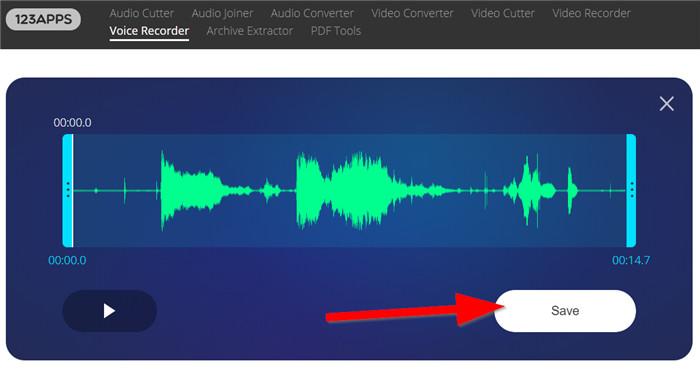 save recorded audio