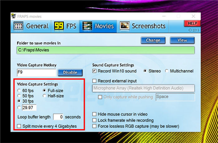 adjust video settings