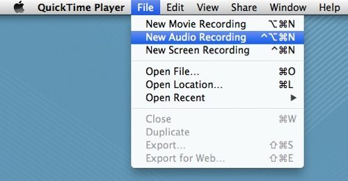 choose the option to record