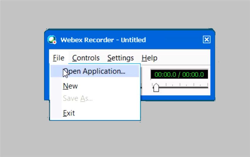 launch Webex Recorder