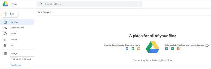use Google Drive