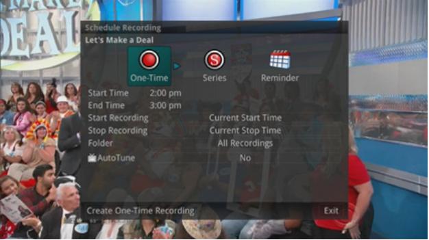 press record button on the remote