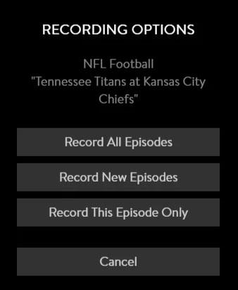 record options