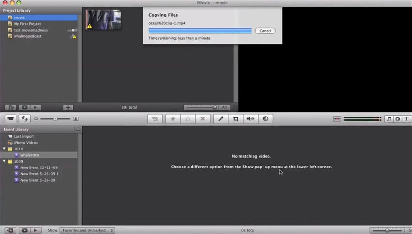 How to Import an MTS File to iMovie