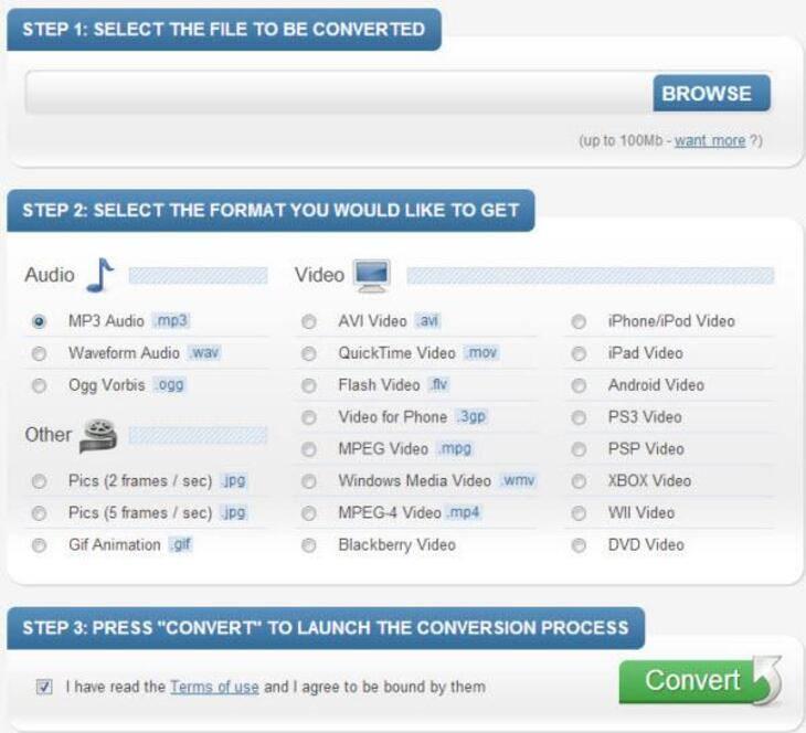 Online MTS to MOV Converter - BenderConverter