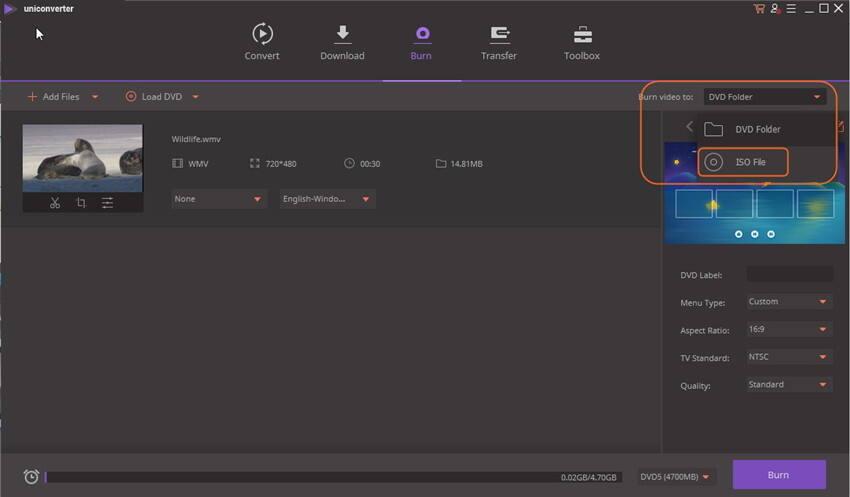 Converta MP4 para ISO - grave o MP4 para o arquivo ISO