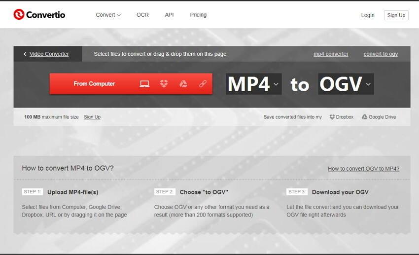 Convertir MP4 a OGV Gratis