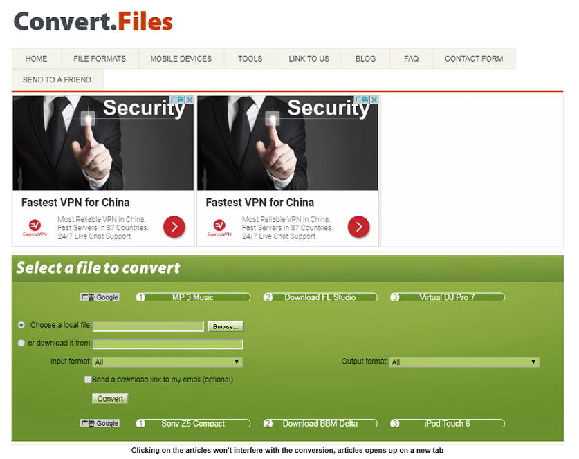 online mp4 zu avi Konverter Converter.Files.com
