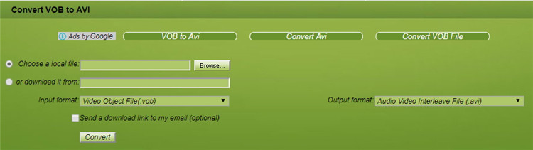 vob file to avi converter