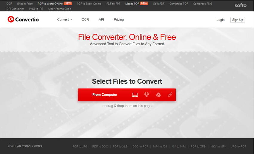 convertitore VOB in MP4 Convertio
